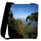 Snoogg Trees On The Mountain Top Designer Womens Carry Around Cross Body Tote Handbag Sling Bags