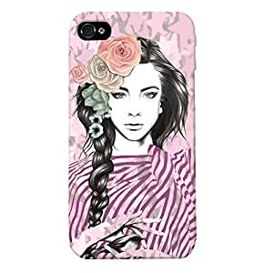 Fuson Peaceful Girl Back Case Cover for APPLE IPHONE 4 - D4036
