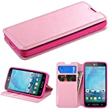 MyBat MyJacket Wallet Case with Tray for LG Optimus L90 - Retail Packaging - Pink