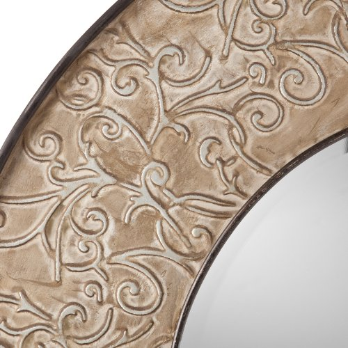 Southern Enterprises Catherine Wall Mount Mirror, Antiqued Silver