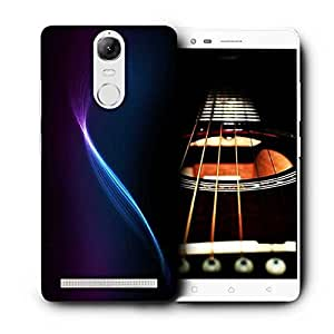 Snoogg Blue And Purple Ray In Black Background Printed Protective Phone Back Case Cover For Lenovo K5 Note