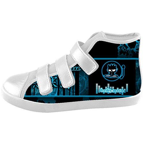 [TH@MM Custom Cartoon badtz maru Velcro High Top Canvas Kid's Shoes] (Badtz Maru Costume)