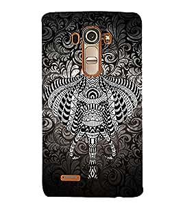 Indian Elephant Graphics 3D Hard Polycarbonate Designer Back Case Cover for LG G4 :: LG G4 H815