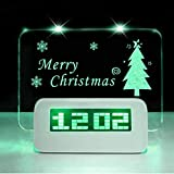 Scribble Alarm Clock Memo Board Creative with Highlighter - Wake Up And Remember (General, Green)