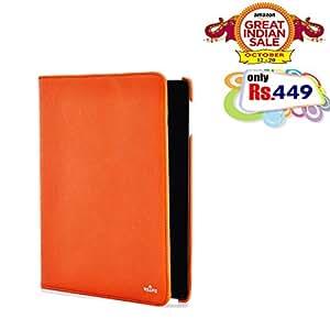 RSAFE Anti-Radiation 360 Degree Rotating PU Leather Smart Case Cover For Samsung Tab 3 10.1 (orange)