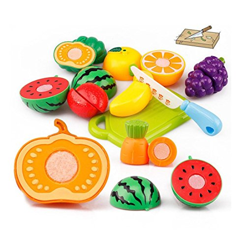GBSELL 20PC Cutting Fruit Vegetable Pretend Play Children Kid Educational Toy Christmas Gift (Cooking For 1 Year Old compare prices)