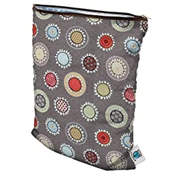 Planet Wise Wet Diaper Bag, Funky Flowers, Medium