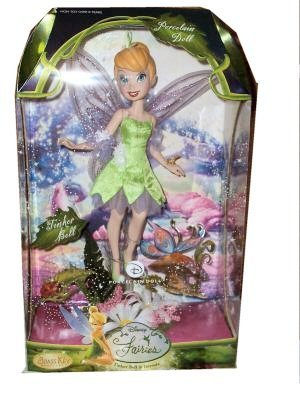 Disney Fairies Tinker Bell Porcelain Doll