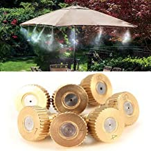 5pcs 3/16 Inch Brass Atomization Spray Nozzles Garden Cooling Misting Sprinkler-0.7mm