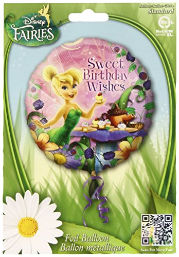 Anagram International HX Tinker Bell Happy Birthday Wishes Party Balloons, Multicolor