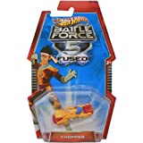 Hot Wheels Mattel Battle Force 5 Fused - CHOPPER - Red wheels