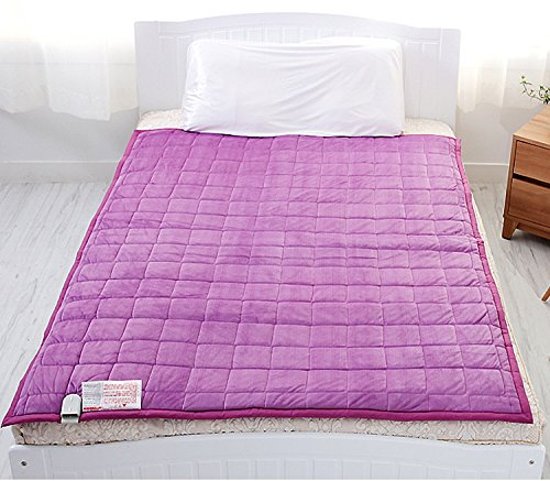 New Electric Heated Blankets Microfiber Puple Color Warm Mattress Pad 110V- 240V Combination L : For Double Bed Size: 53X71Inch (135X180Cm) Lower Energy Cost