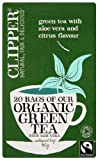Clipper Organic Green Tea with Aloe Vera 20 Teabags (Pack of 6, Total 120 Teabags)