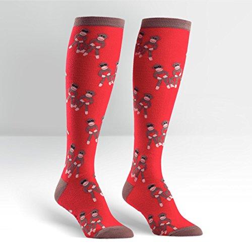 Sock It To Me Sock Monkeys Red Knee High Socks 2 Pack