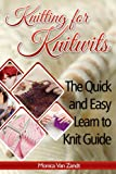 img - for Knitting for Knitwits: The Quick and Easy Learn to Knit Guide (with six easy patterns) (Craft Instructables) book / textbook / text book