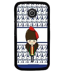 PrintDhaba Cute Doll D-5877 Back Case Cover for MOTOROLA MOTO E (Multi-Coloured)