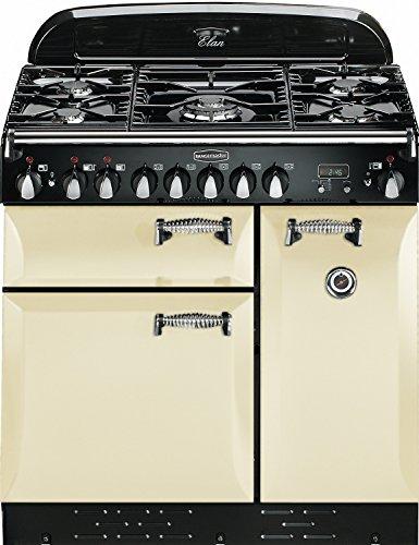 Rangemaster Elan 90 Dual Fuel Range Cooker, Cream