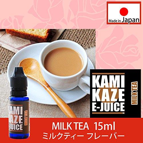 KAMIKAZE E-JUICE カミカゼ ミルクティーフレーバー MILK TEA 電子タバコ 日本製国産 リキッド 15ml 1本