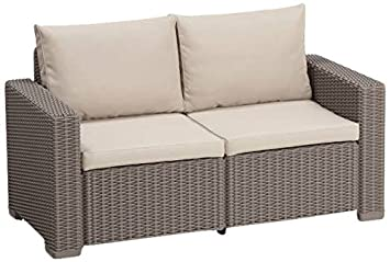 Allibert Lounge California sofá, Capuchino/Panama Arena, 141 x 68 x 72 cm, 233050