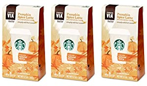 Starbucks VIA® Ready Brew Pumpkin Spice Latte 15 Servings (3 Pack/Boxes) 5 Packets Each Box