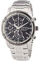 Seiko Men's Quartz Chronograph Watch SSC147P1-Silver Stainless Steel Strap