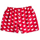 Silk Heart Boxers by ROYAL SILK - Valentine's Day - White on Red - Men's L