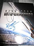 Chris Pine Benedict Cumberbatch Signed Star Trek Into The Darkness Poster Photo - Autographed NHL Photos