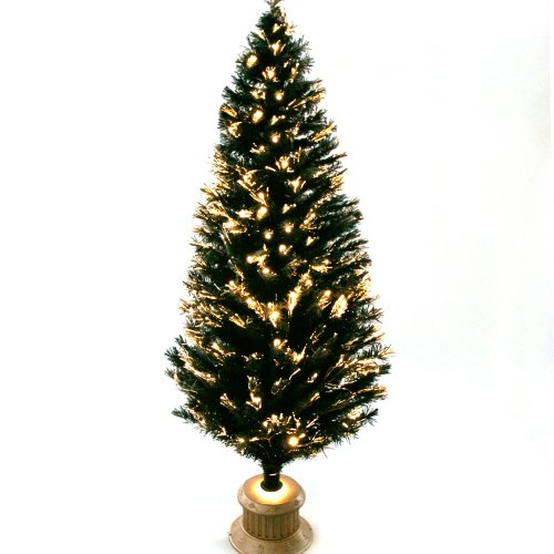 Black Snow Tipped Fibre Optic Christmas Tree, 6Ft