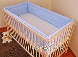 Cuarto de niños a los golpes para 360 cm de largo el pelaje de banda de protección para que se ajuste a bebé y espuma con funda extraíble azul