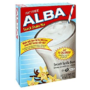 ALBA Dairy Shake Mix, Smooth Vanilla Bean Flavor, 6 Ounce Box (Pack of 6)
