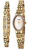 Accurist Women's Quartz Watch with Mother of Pearl Dial Analogue Display and Gold Stainless Steel Bracelet LB1349