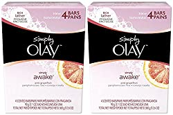 Olay Simply Awake Pink Grapefruit Scented Bars (90 gm*4) with Free Ayur Soap