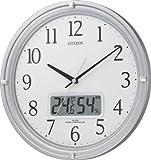 CITIZEN (シチズン) 掛時計 ネムリーナアイコン 電波時計 温度表示 湿度表示 4MY809-019