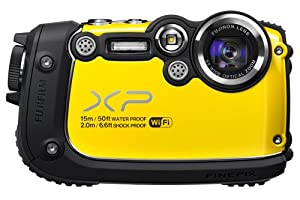 Fujifilm FinePix XP200 Yellow 16MP Waterproof Digital Camera with 3-Inch LCD (Yellow)