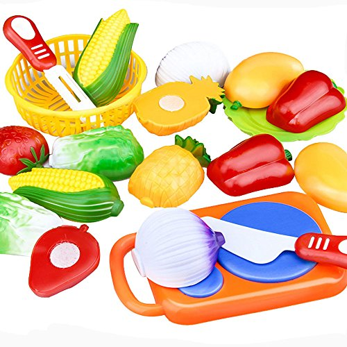 Iuhan 12PC Cutting Fruit Vegetable Pretend Play Children Kid Educational Toy (Color Style Randomly) (Play Food For Grill compare prices)