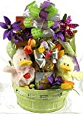 Just Ducky, Easter Gift Basket with Quacking Ducks