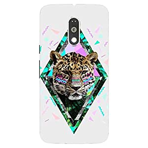 Back Cover for Moto G Plus (4th Gen) Abstract Leopard