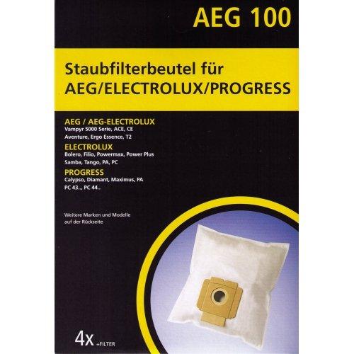 AEG 100 - Staubfilterbeutel für AEG / Electrolux / Progress / Privileg / Gorenje Staubsauger