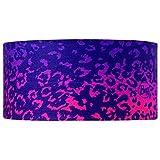 Buff Leopard Head Band Buff - Purple, One Size