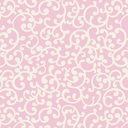 "Nursery Rhyme Toile 43/44"" Wide 100% Cotton D/R-Nursery Rhyme Scroll-Pink front-87298"