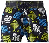 Kitestrings Baby-Boys Infant Microfiber Fishbone Swim Trunk