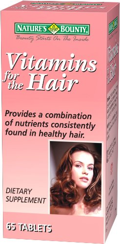 Nature's Bounty Vitamins for the Hair, 65 Tablets