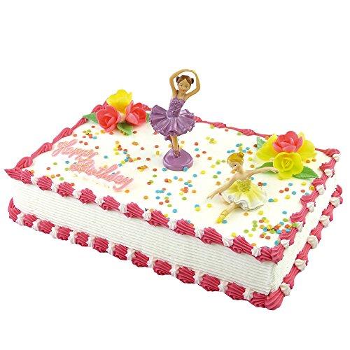 cake company 2 torten figuren ballett t nzerin mit happy birthday schriftzug polyresin figur. Black Bedroom Furniture Sets. Home Design Ideas
