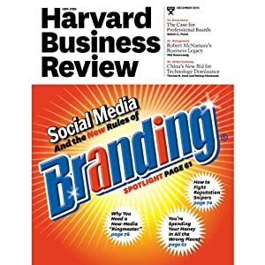 Harvard Business Review, December 2010 | [Harvard Business Review]