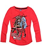 Girls Monster High Long Sleeve T-Shirt Monster High Top Coral From Ages 8 to 14 Years