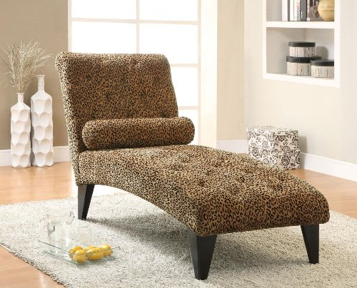 Coaster Home Furnishings Transitional Chaise, Black front-623388