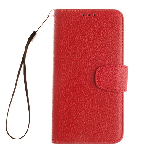 Cozy-Hut-Sony-Xperia-X-LederhlleMagnetverschluss-Schutzhlle-Folio-Cover-fr-Sony-Xperia-X-Rot-Ledertasche-im-Bookstyle-mit-Kartenfcher-und-Standfunktion-Hlle-Sony-Xperia-X-Handy-taschen-Classic-Series-