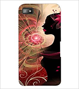 PrintDhaba Pattern Girl D-4119 Back Case Cover for BLACKBERRY Z10 (Multi-Coloured)