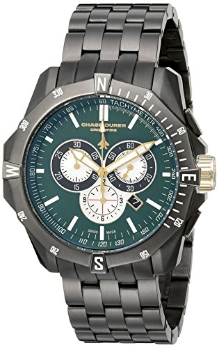 chase-durer-hommes-8504egm-crossfire-gunmetal-ion-plaque-acier-inoxydable-montre-chronographe
