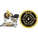 DEWALT DCS361B 20V Max Cordless Miter Saw (Tool Only) with DEWALT DW7114PT DEWALT DW7114PT 40T Precision Trim Miter Saw Blade, 7-1/4